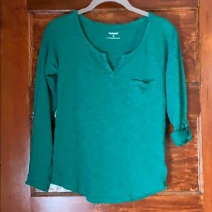 Express Pull Over Long Sleeve Casusl Top